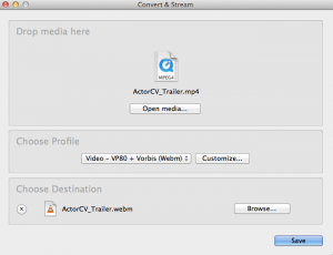 VLC Media File Conversion
